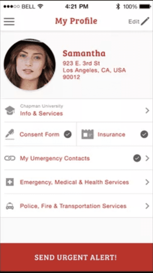Umergency Safety App Screen Shot